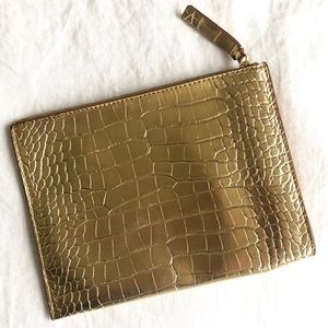 Banana Republic | Gold Embossed Clutch